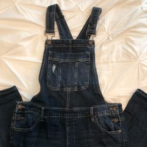 DARK DENIM PANT OVERALLS